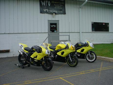 WFO storefront with a few of our racing bikes